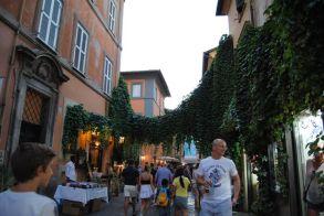 Calle típica en el Barrio del Trastevere